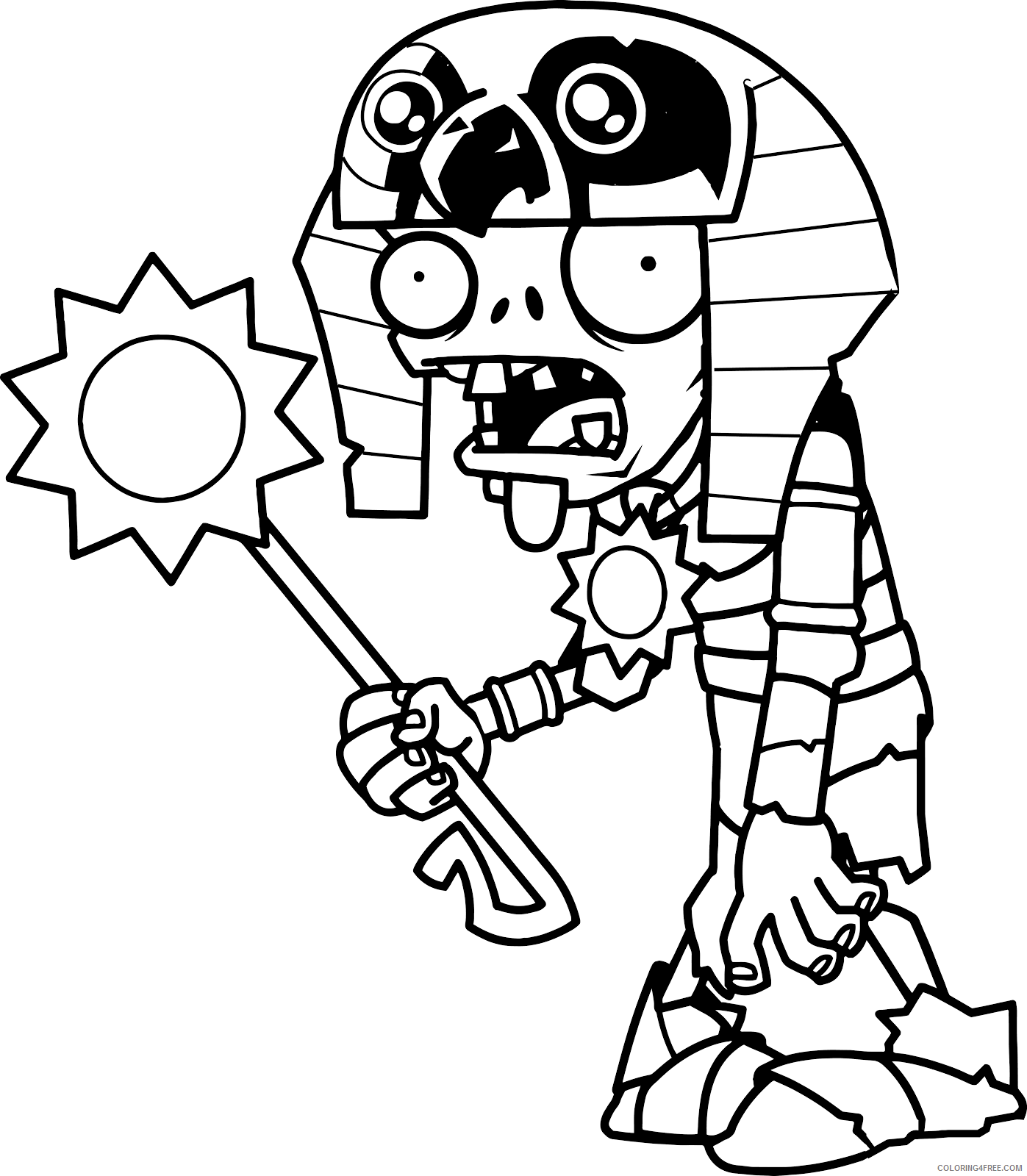 plants vs zombies coloring pages mummy ra zombie Coloring4free