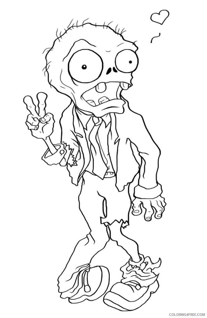plants vs zombies coloring pages zombie Coloring4free