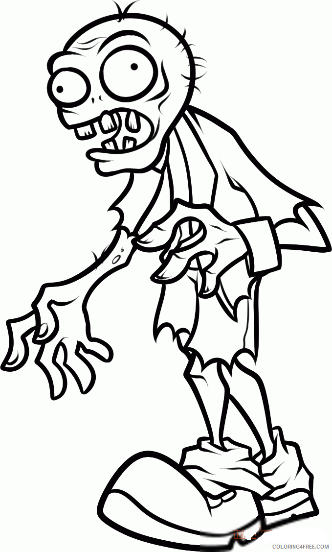 plants vs zombies coloring pages zombie attacking Coloring4free