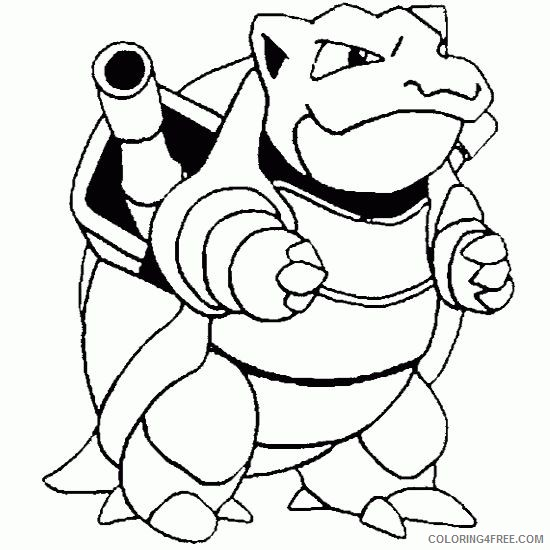 pokemon coloring pages blastoise Coloring4free