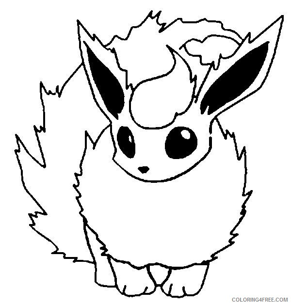 pokemon coloring pages flareon Coloring4free
