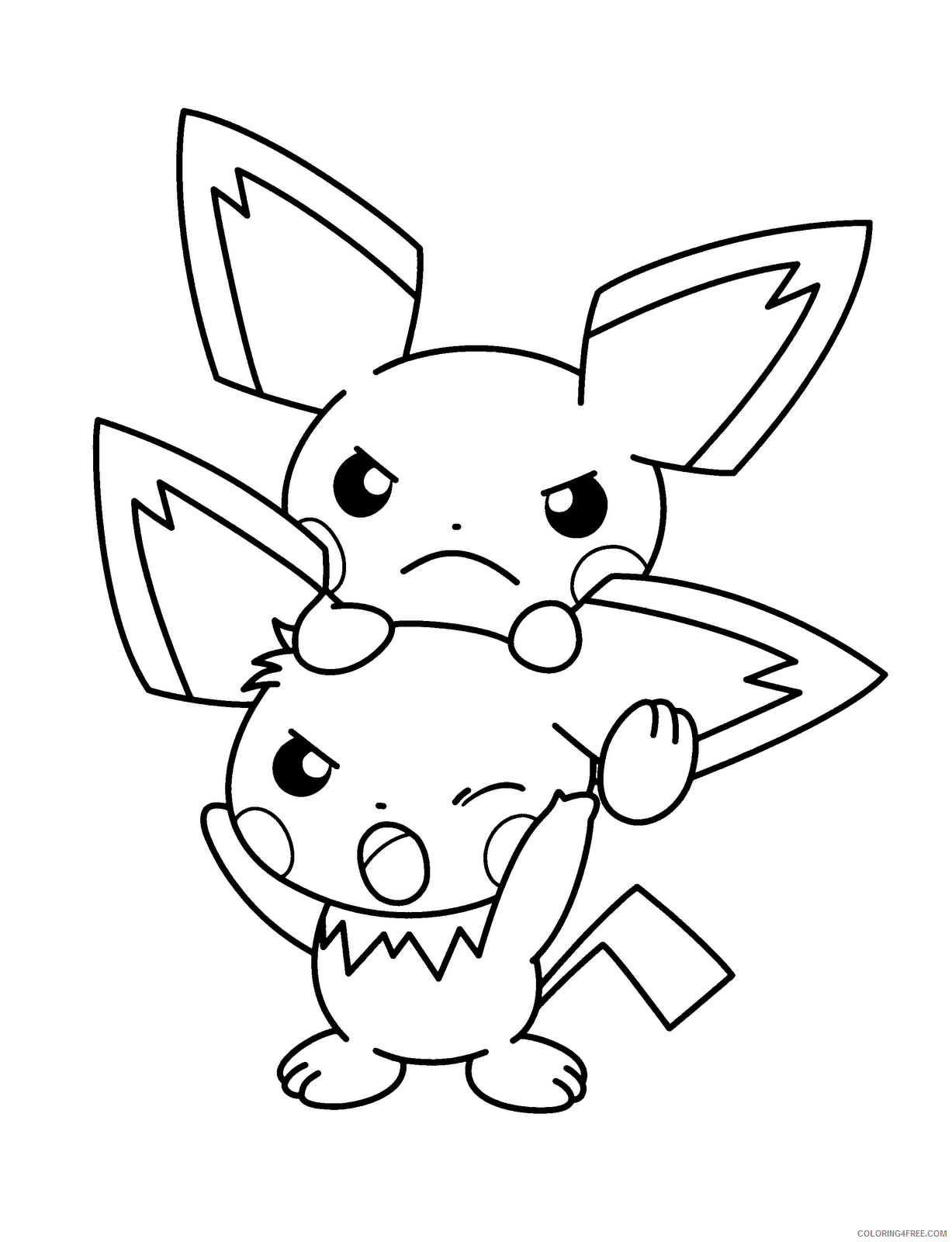 pokemon coloring pages pichu Coloring4free