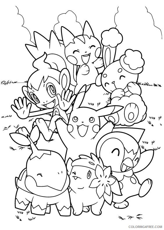 pokemon coloring pages pikachu and friends Coloring4free