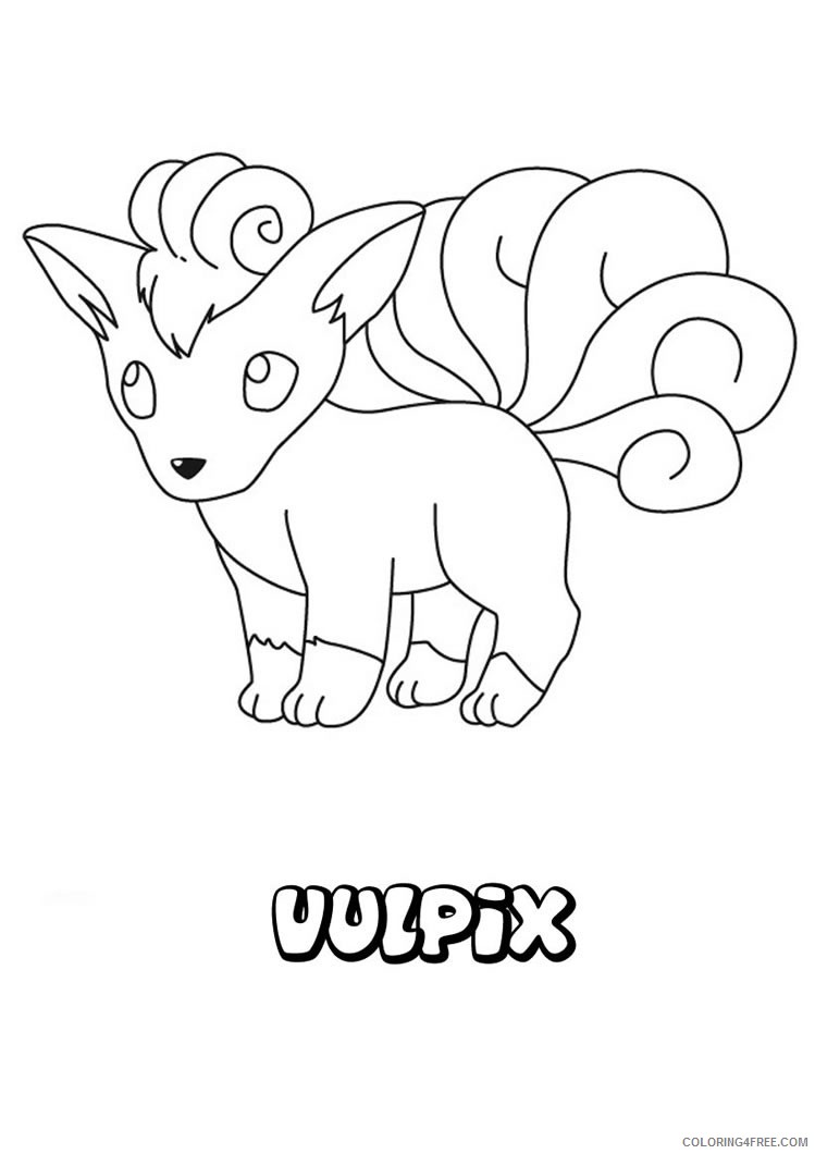 pokemon coloring pages vulpix Coloring4free