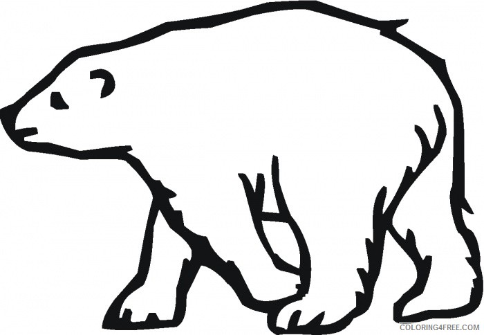 polar bear coloring pages for toddler Coloring4free