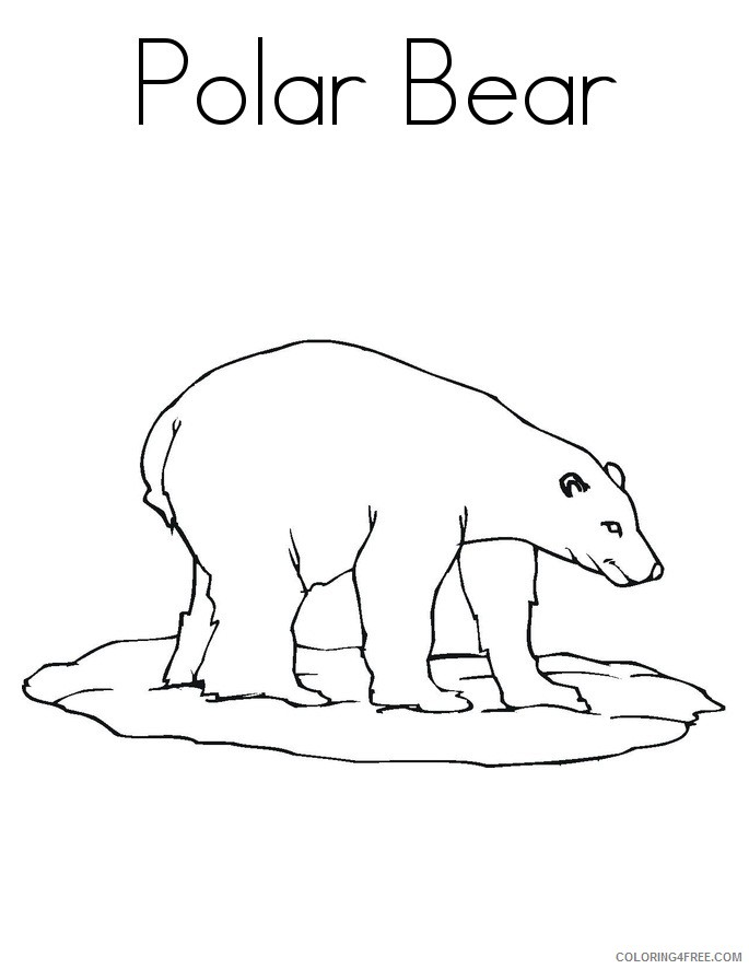 polar bear coloring pages to print Coloring4free