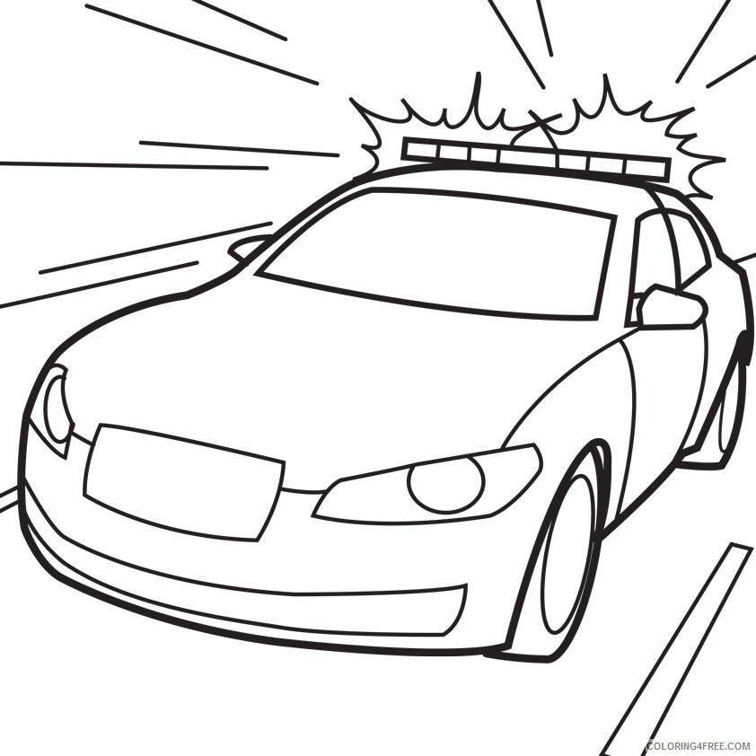 police car coloring pages Coloring4free