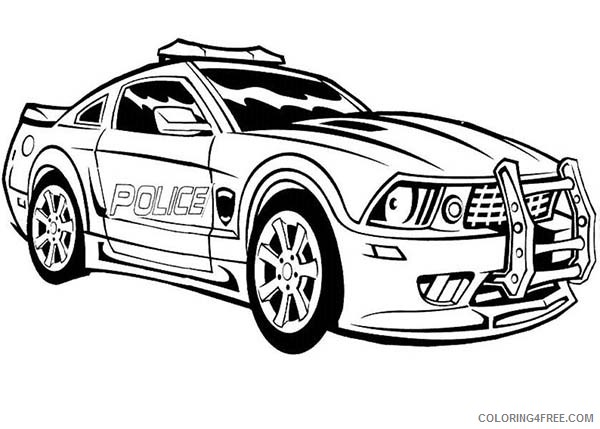 police car coloring pages for boys Coloring4free