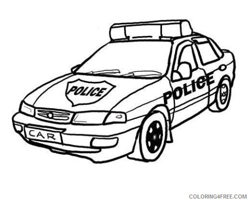 police car coloring pages printable Coloring4free