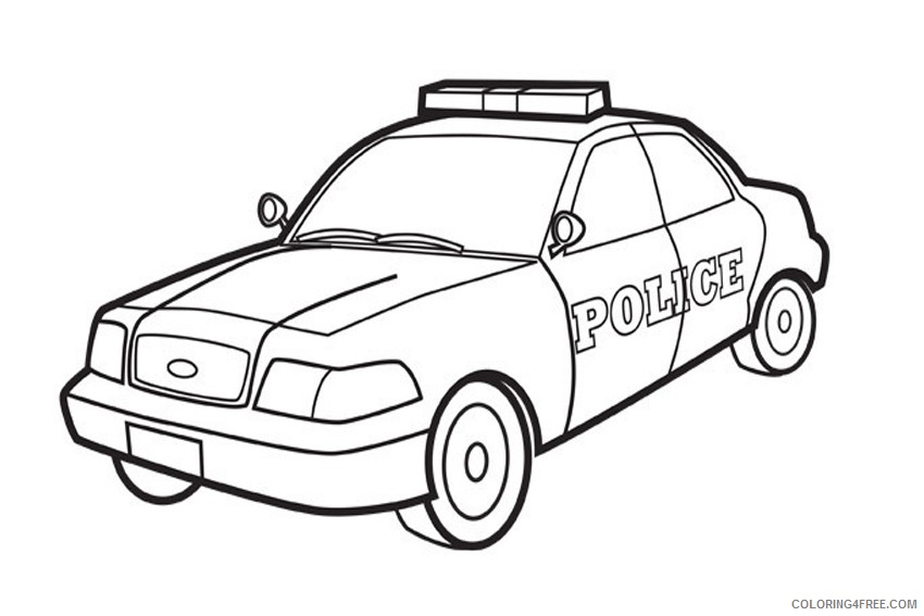 police car coloring pages to print Coloring4free