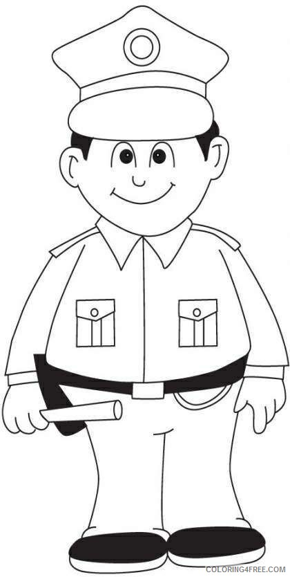 police coloring pages for kids Coloring4free