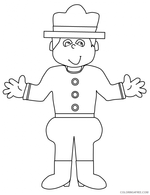 police coloring pages for preschooler Coloring4free
