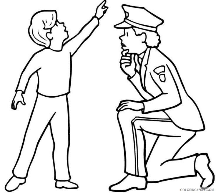 police coloring pages helping kids Coloring4free