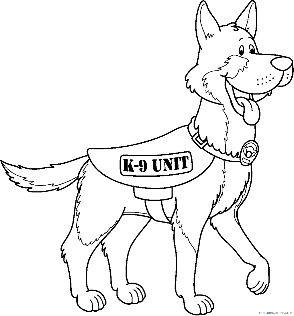 police dog coloring pages german shepherd Coloring4free