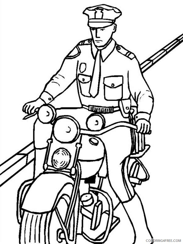 police motorcycle coloring pages 2 Coloring4free