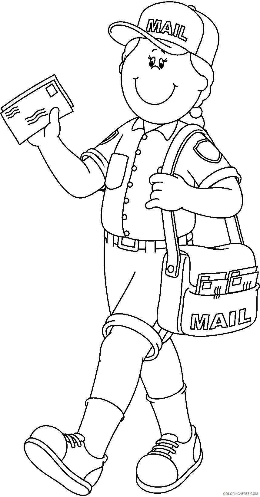 postman community helpers coloring pages Coloring4free