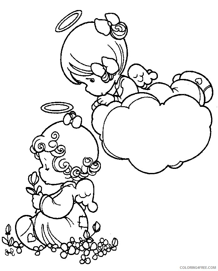 precious moments coloring pages angel Coloring4free