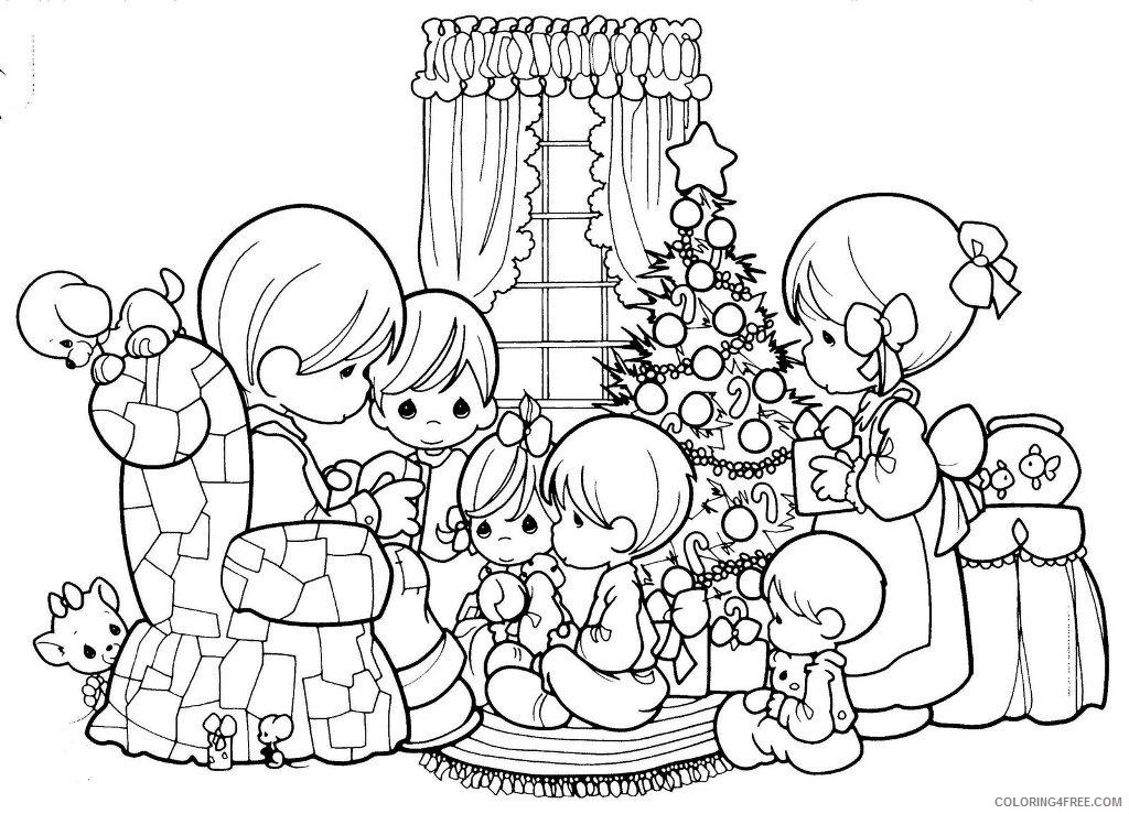 precious moments coloring pages christmas family Coloring4free