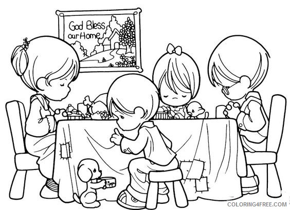 precious moments coloring pages dinner Coloring4free