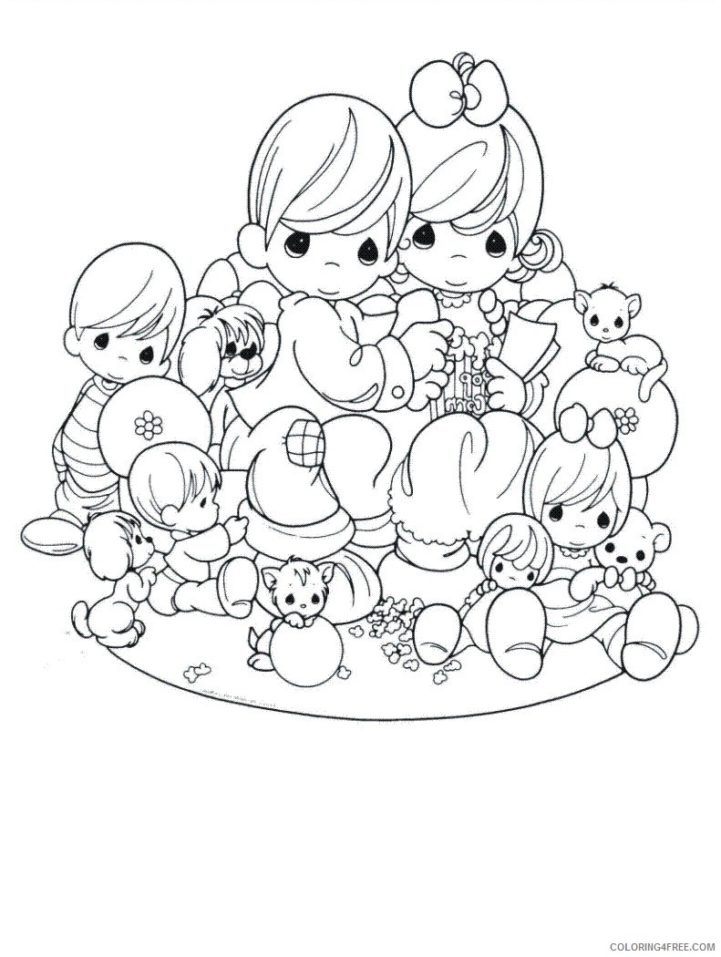 precious moments coloring pages family Coloring4free