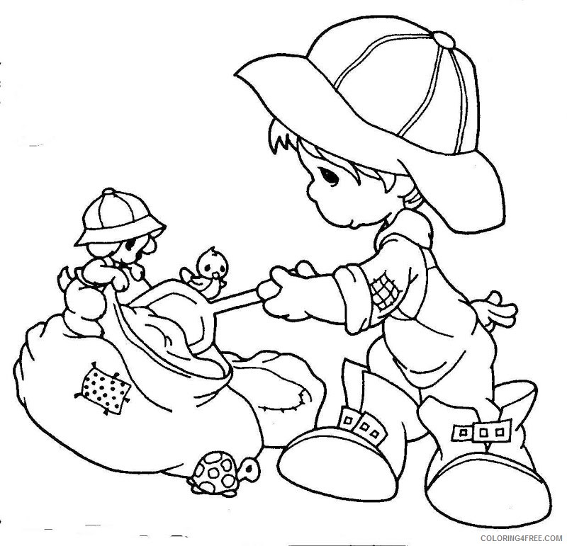 precious moments coloring pages farmer Coloring4free