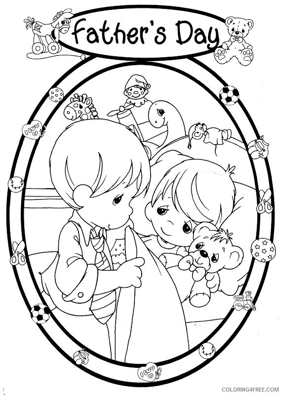 precious moments coloring pages fathers day Coloring4free
