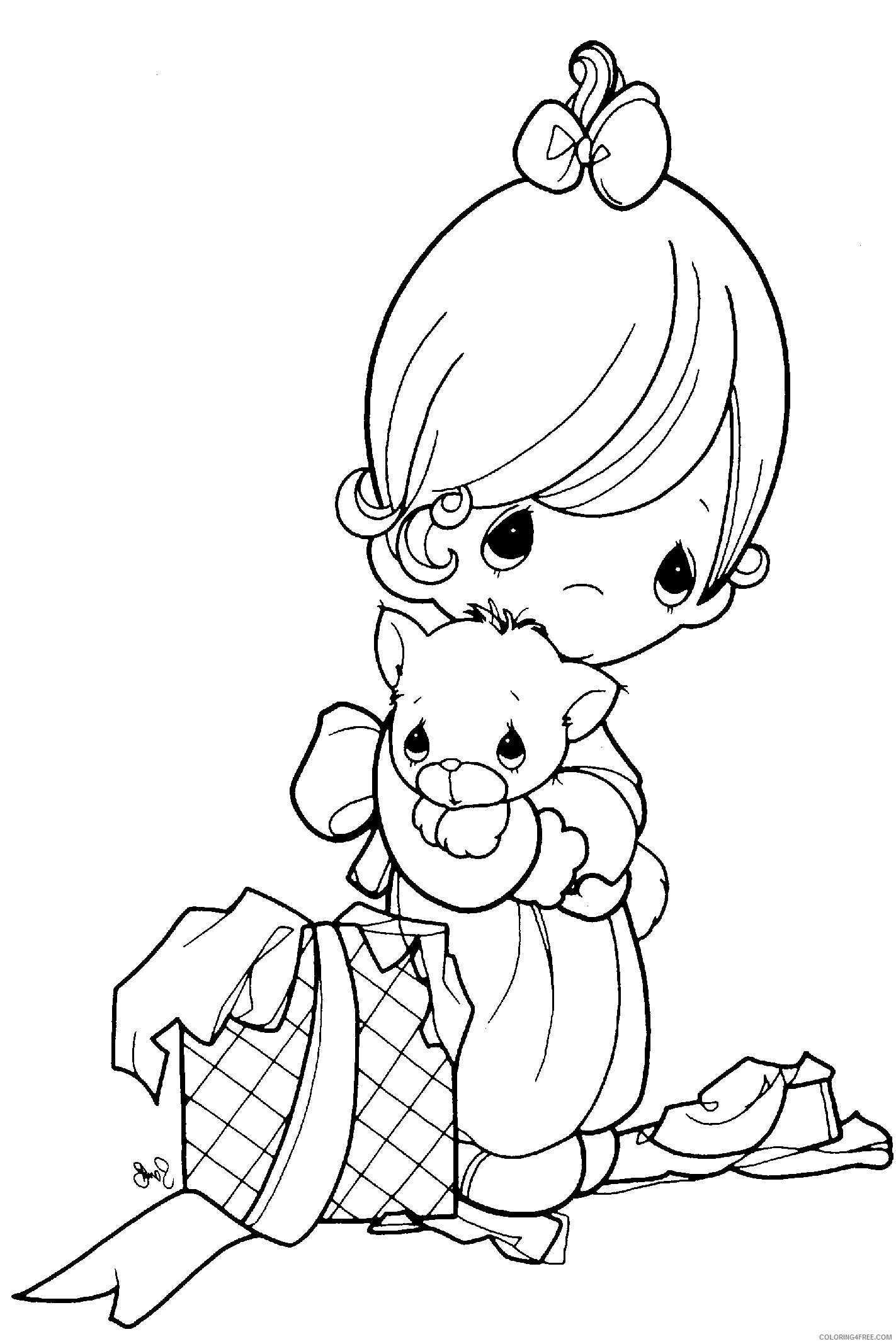 precious moments coloring pages gift Coloring4free