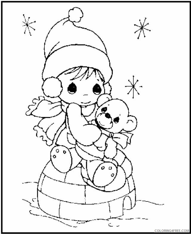 precious moments coloring pages winter Coloring4free