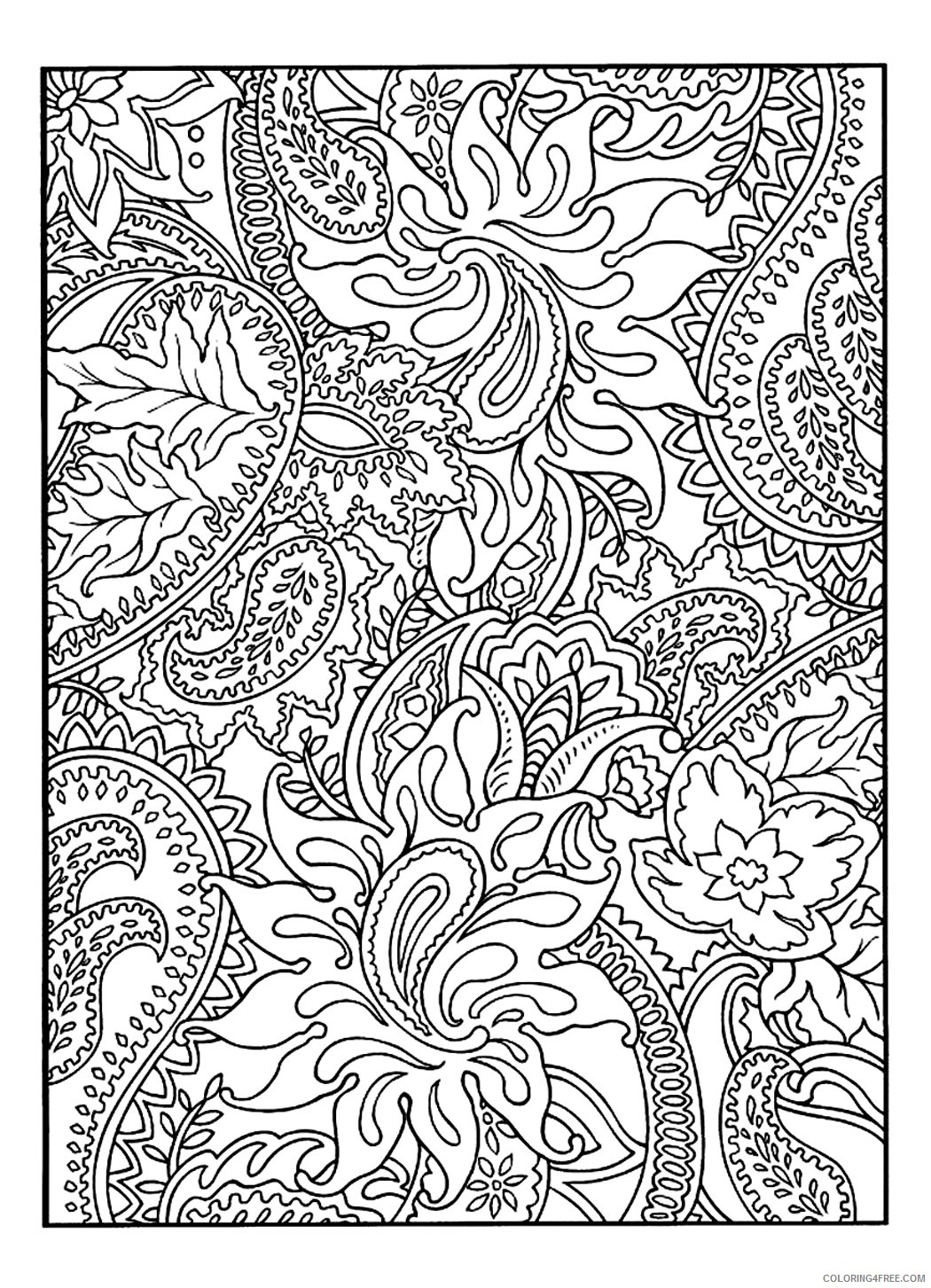 pretty coloring pages for adults Coloring4free