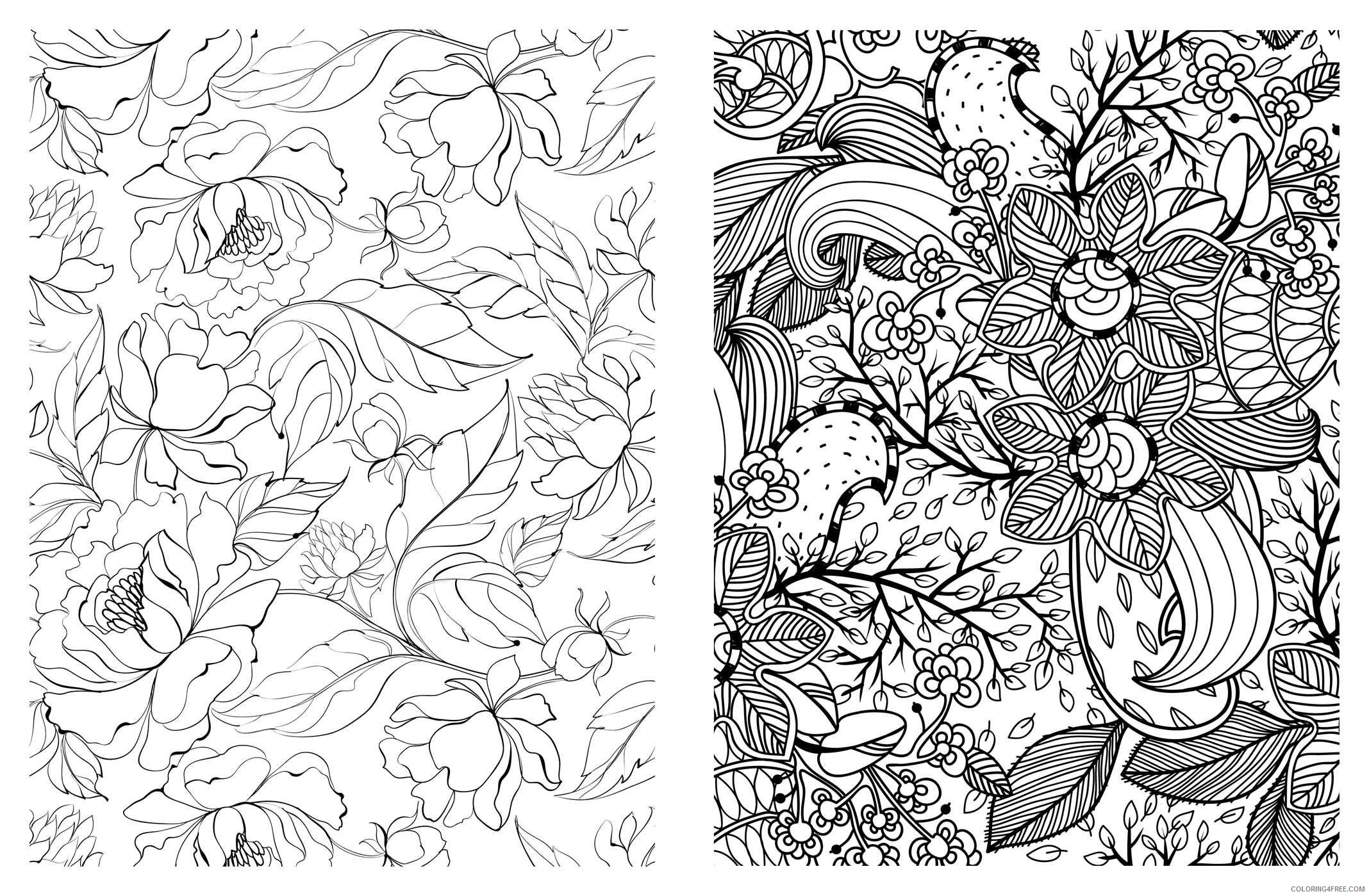 pretty coloring pages for adults printable Coloring4free