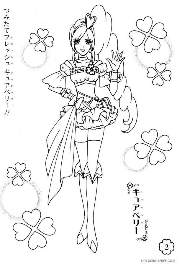 pretty coloring pages of anime girl Coloring4free