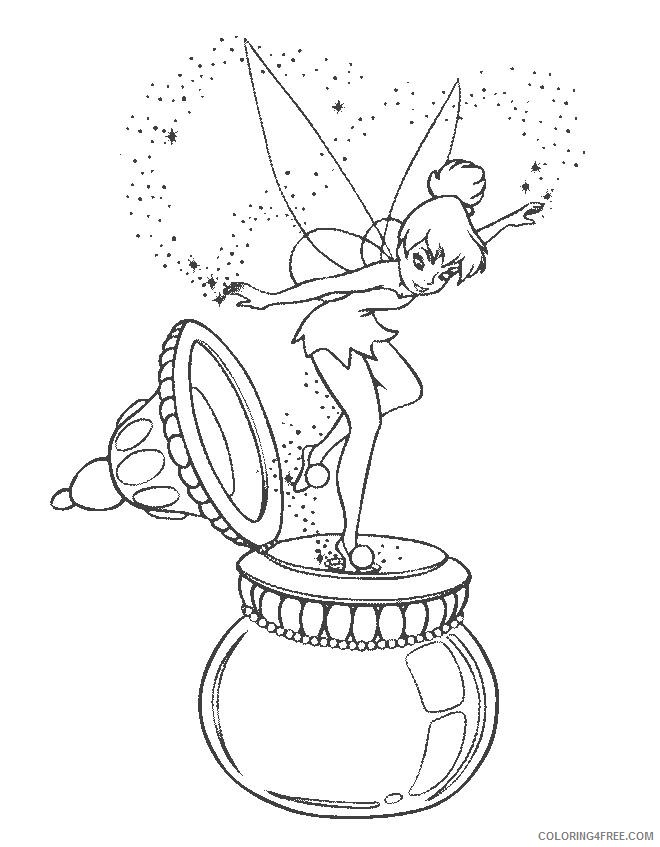 pretty coloring pages tinkerbell Coloring4free