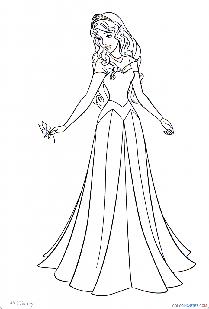princess aurora coloring pages to print Coloring4free
