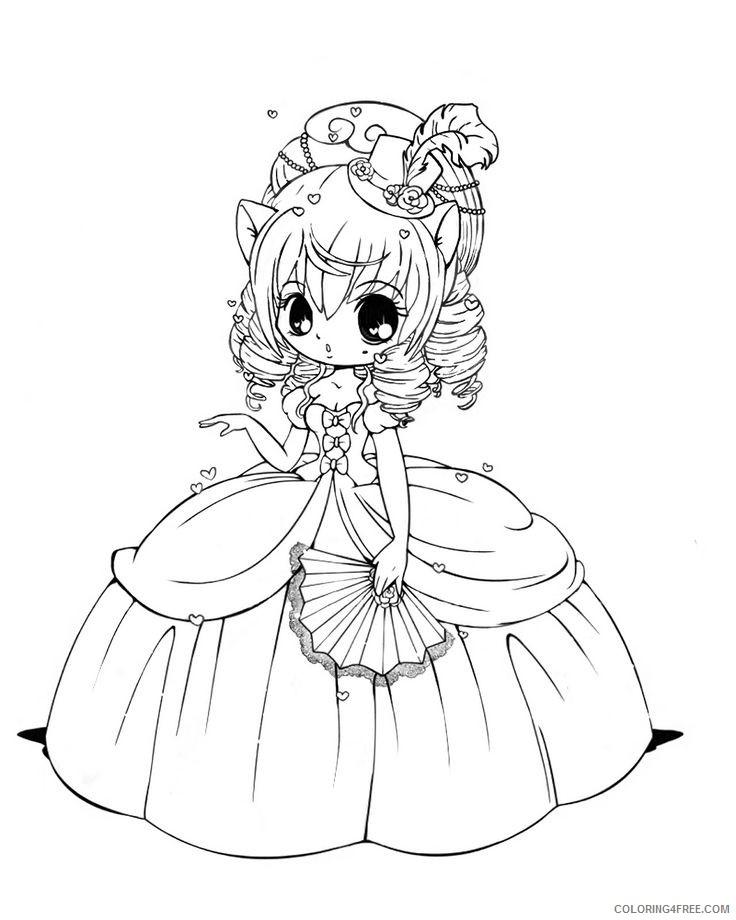 princess chibi coloring pages Coloring4free