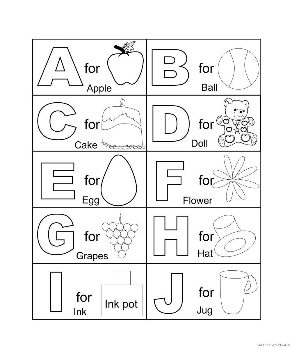 printable abc coloring pages for kindergarten Coloring4free