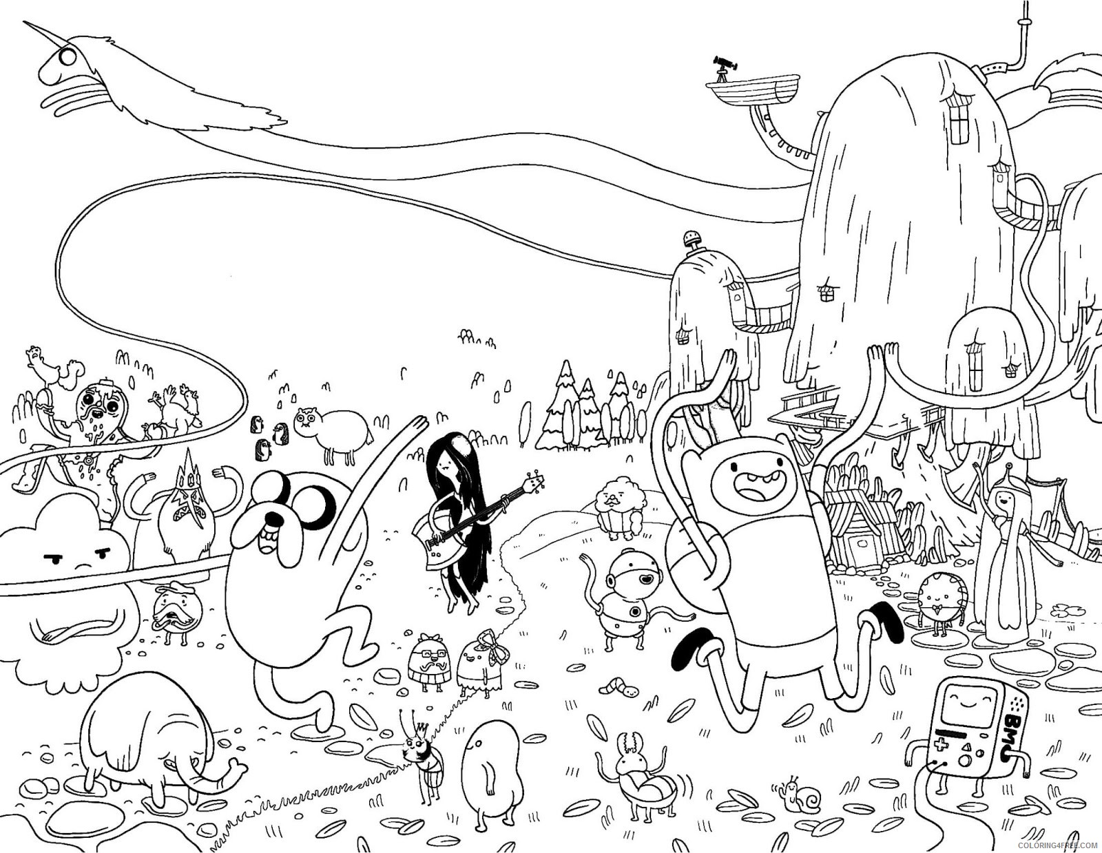printable adventure time coloring pages Coloring4free