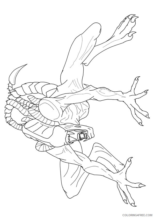 printable alien coloring pages for adults Coloring4free