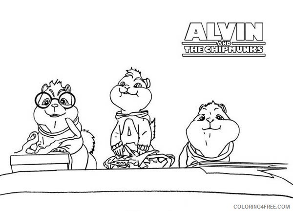 printable alvin and the chipmunks coloring pages Coloring4free