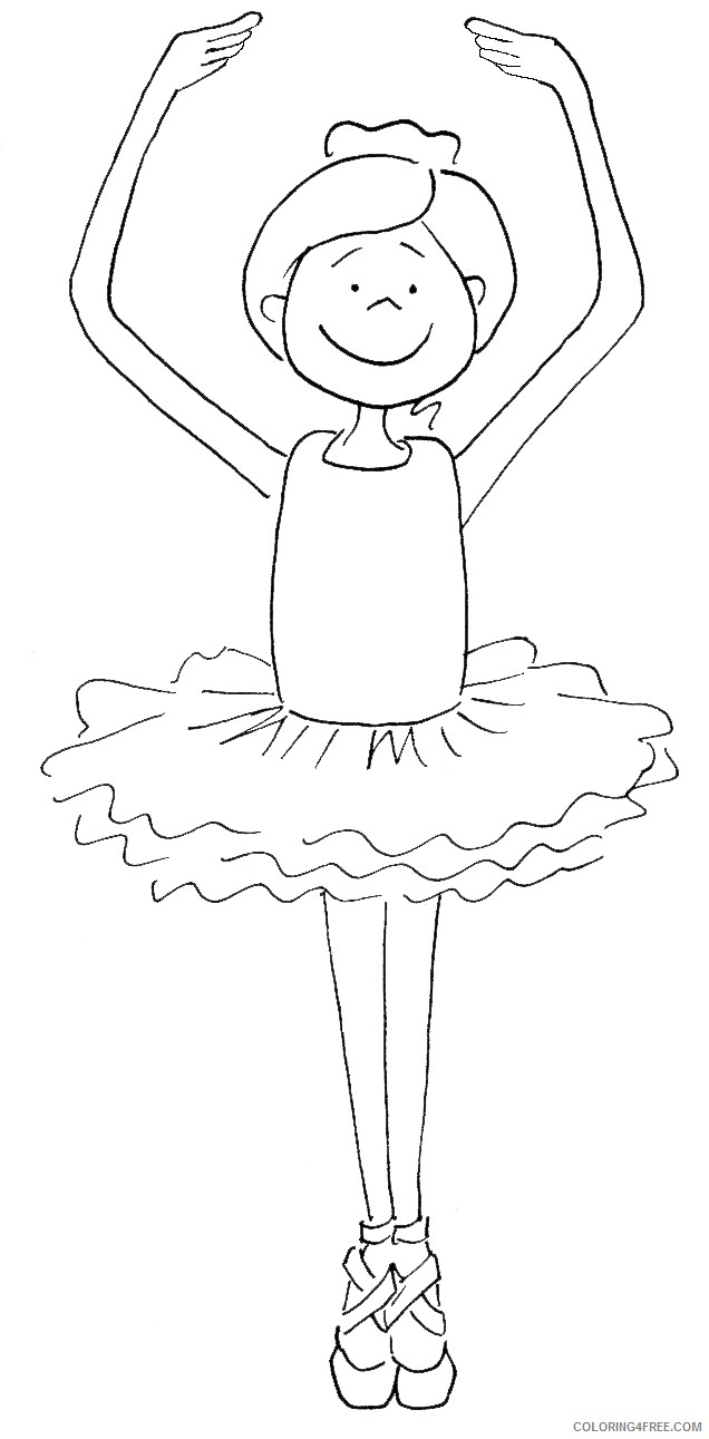 printable ballet coloring pages for kids Coloring4free