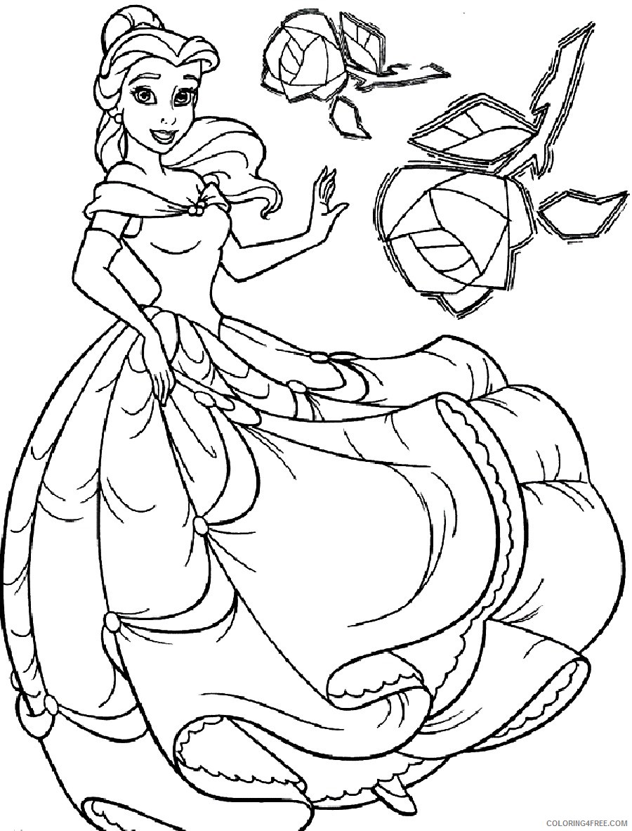 printable belle coloring pages for kids Coloring4free