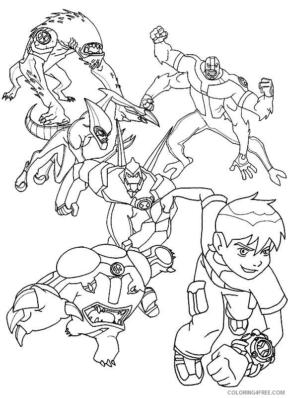 printable ben 10 coloring pages for kids Coloring4free