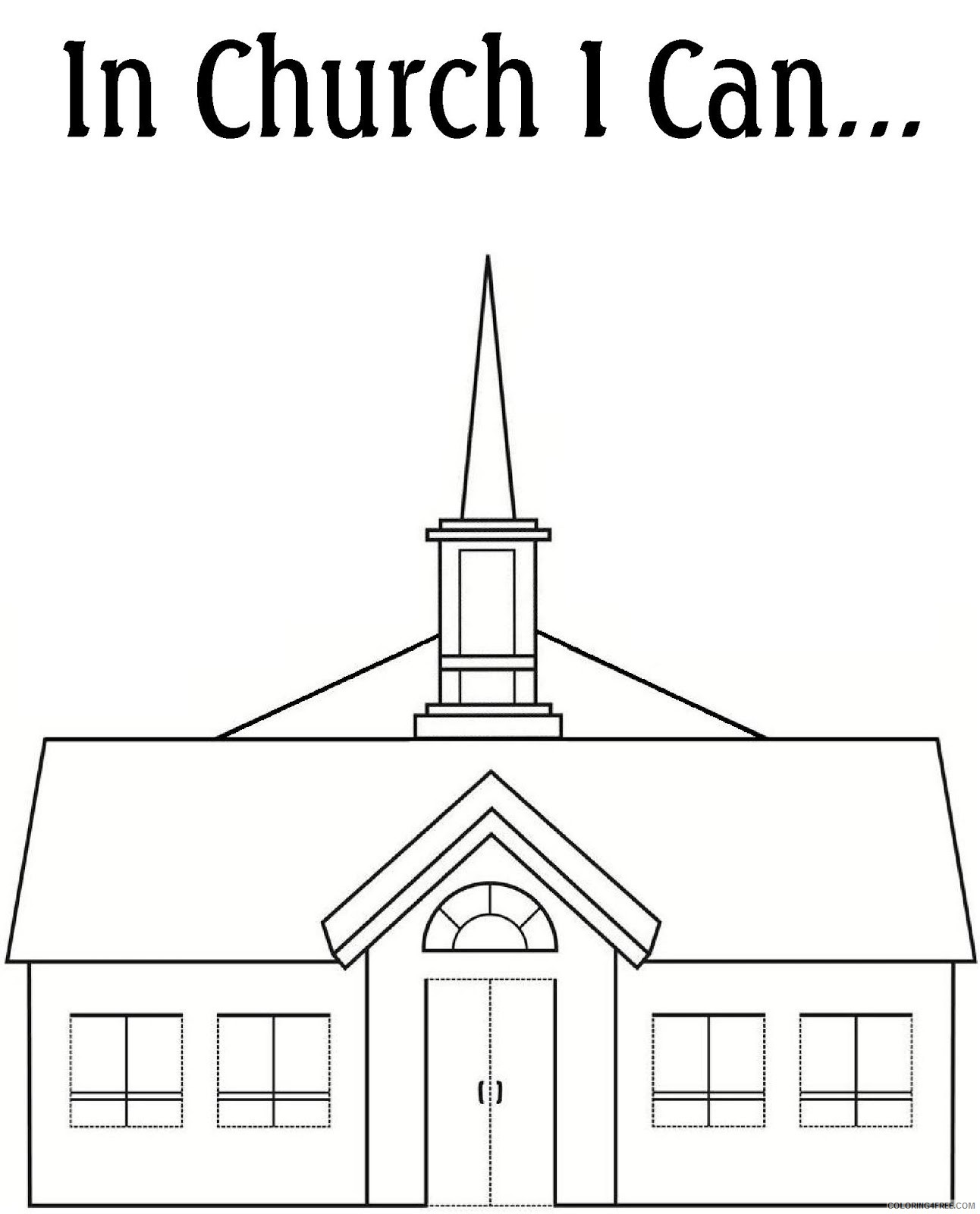 printable church coloring pages free Coloring4free
