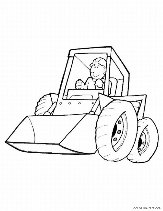 printable construction coloring pages for kids Coloring4free