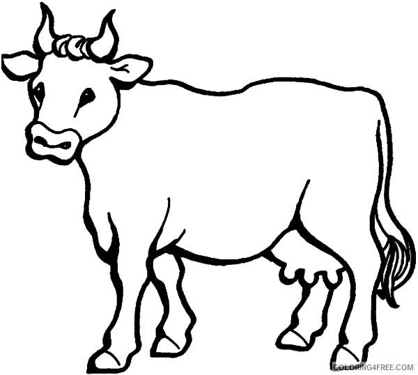 printable cow coloring pages for kids Coloring4free