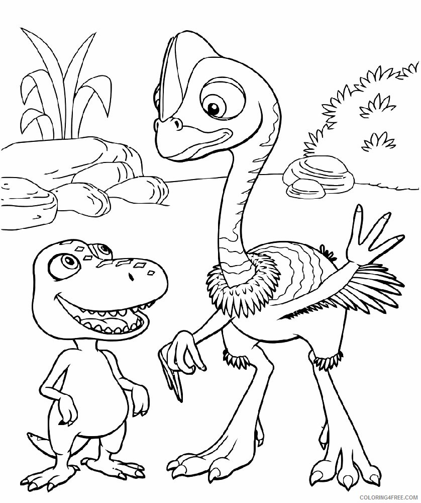 printable dinosaur train coloring pages for kids Coloring4free