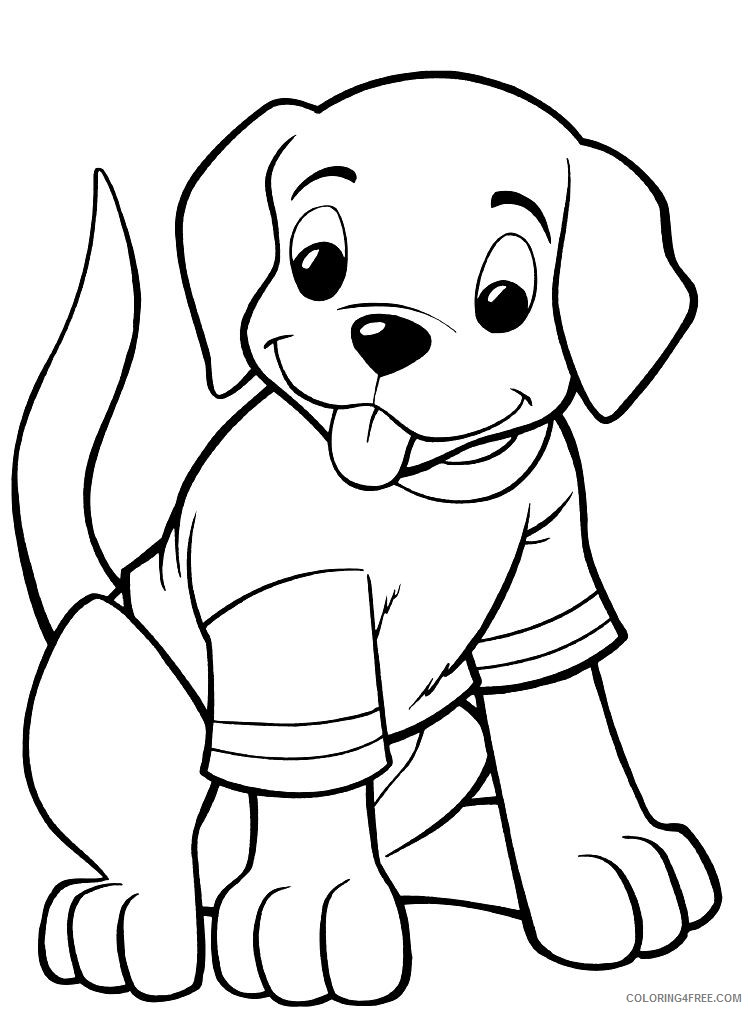 printable dog coloring pages Coloring4free
