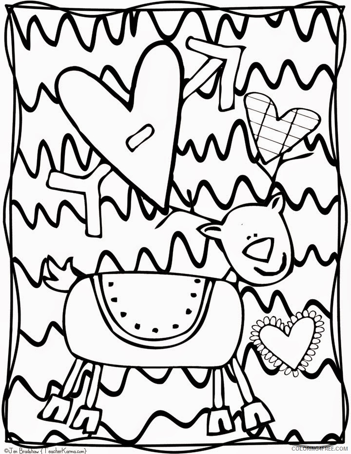 printable doodle coloring pages for kids Coloring4free