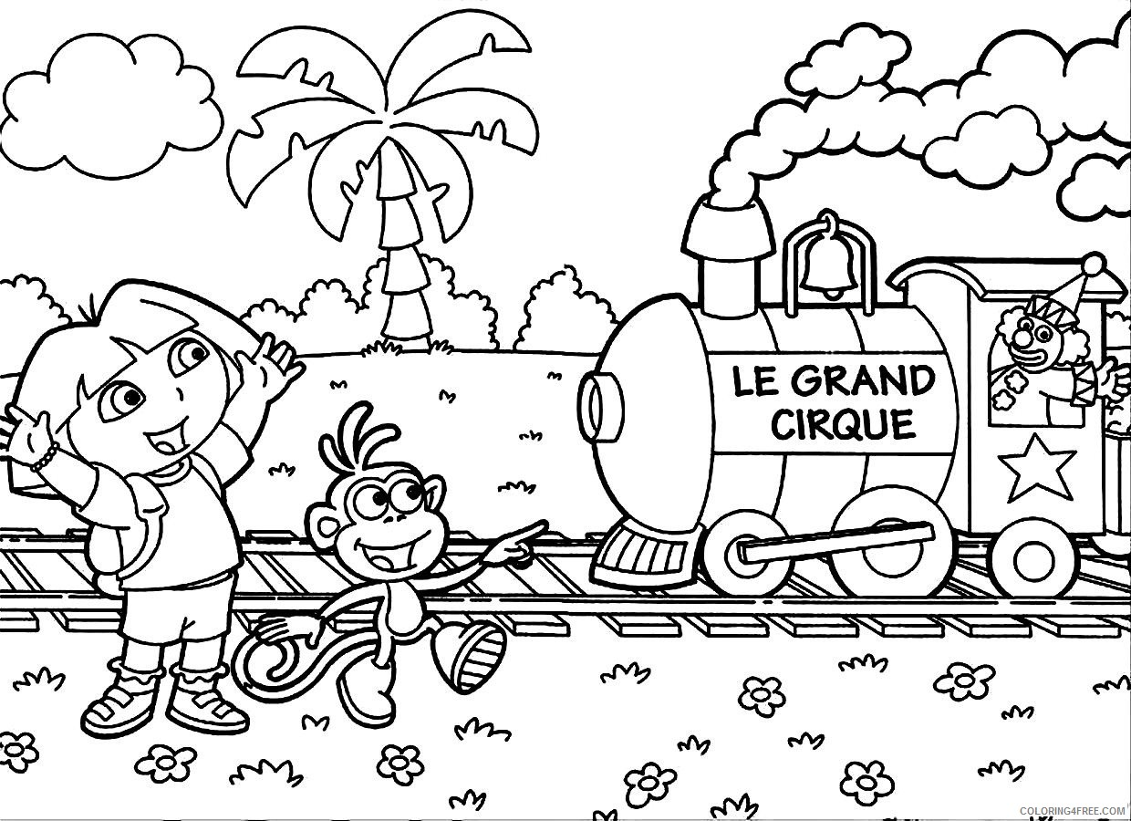 printable dora coloring pages Coloring4free