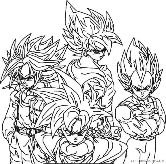 printable dragon ball z coloring pages Coloring4free