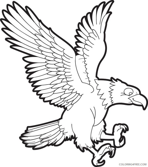 printable eagle coloring pages for kids Coloring4free